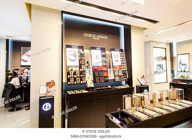 China, Hong Kong, Central, Landmark, Giorgio Armani Cosmetics Store