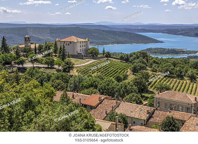 Chateau d'Aiguines, Verdon Gorge, Alpes-de-Haute-Provence, France, Europe