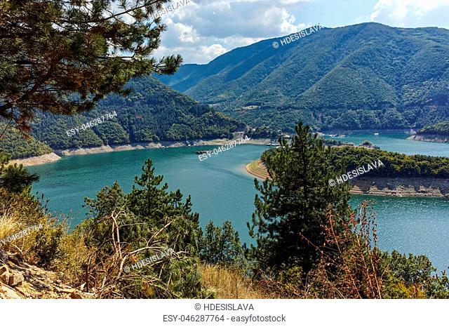 Green Forest around Vacha dam, Rhodopes Mountain, Plovdiv Region, Bulgaria