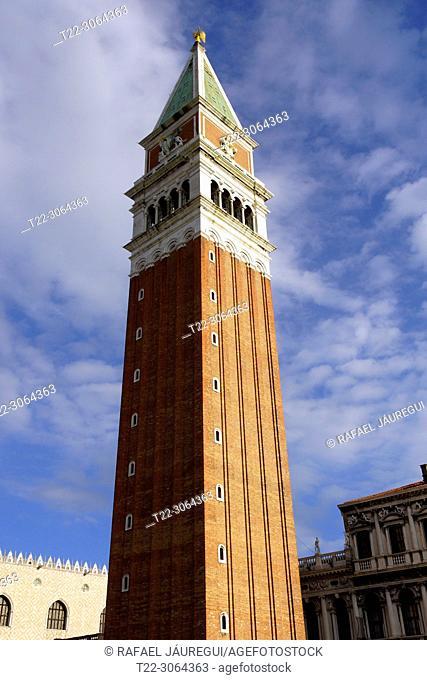 Venice (Italy). Campanile in Saint Mark's Square in the city of Venice