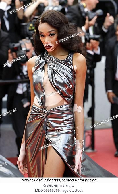 Winnie Harlow at the 71st Cannes Film Festival. Cannes, France, May 16, 2018