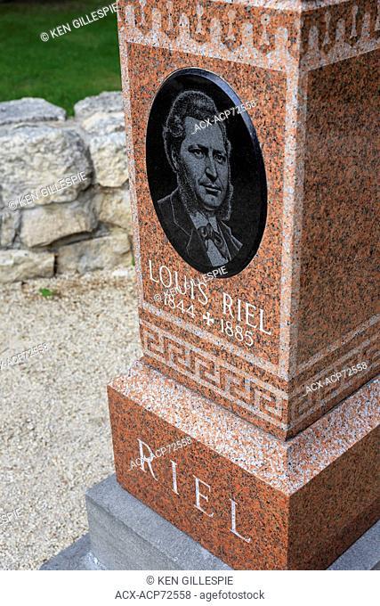 Gravesite of Metis leader Louis Riel, Winnipeg, Manitoba, Canada