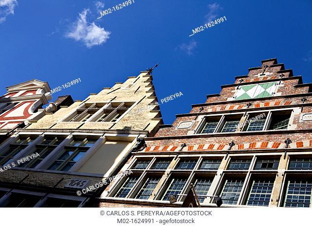 Neighborhood of Patershol in Ghent, Belgium