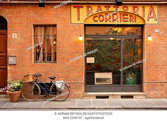 Bicycle delivery to Trattoria Corrieri, Parma, Emilia-Romagna