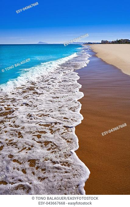 Xeraco also Jaraco beach in Valencia at Mediterranean sea of spain
