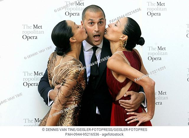 Crissy Barker, Nigel Barker and Kimberly Hise attend the 2017 Metropolitan Opera Opening Night at The Metropolitan Opera House on September 25