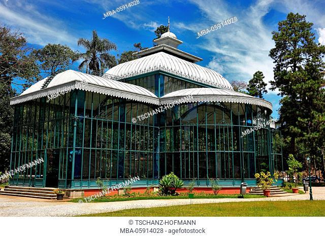 Crystal palace Palacio de Cristal, Petropolis is a town at the federal state Rio de Janeiro, Brazil