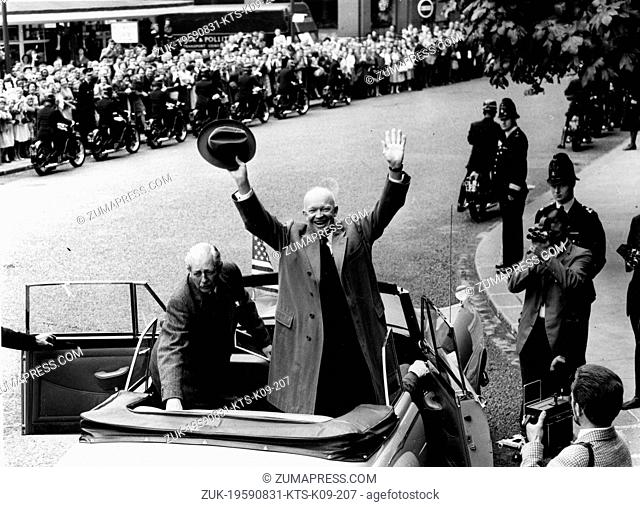 Aug. 31, 1959 - London, England, U.K. - The 34th President of the United States, DWIGHT D. EISENHOWER (1890-1969) was a five-star general in the United States...