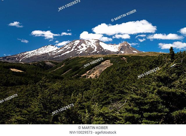 Beautiful hikes south of Mount Ruapehu in the Tongariro National Park, North Island, New Zealand