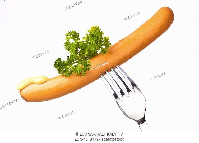 Sausage on Fork