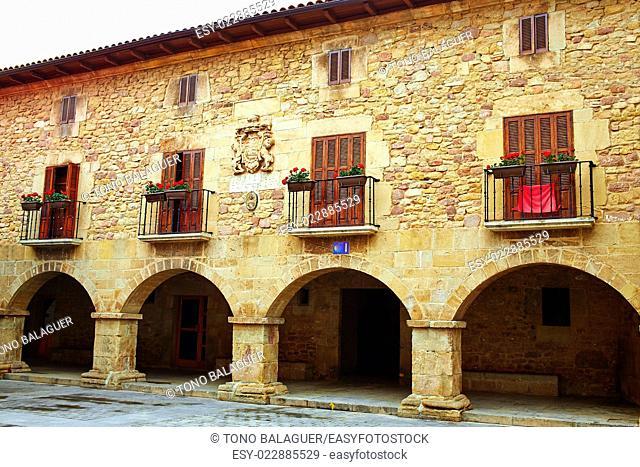 The way of Saint James arcade in Cirauqui at Pamplona Navarra Spain