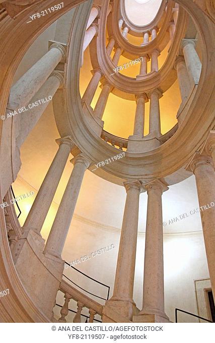 Staircase Barberini Palace, Palazzo Barberini (Galleria Nazionale d'Arte Antica) in Rome, Italy