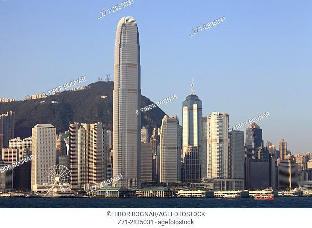 China, Hong Kong, Central district, skyline,