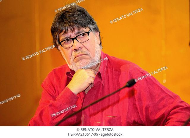 """Luis Sepùlveda attends the presentation of the book """"""""living for something"""""""", Turin, 21/05/2017"""