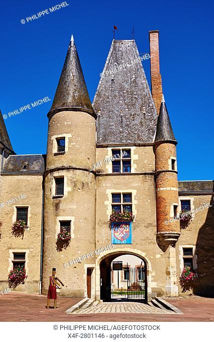 France, Cher (18), Sologne, Aubigny-sur-Nere, the Jacques Coeur road, city of Stuart, Stuarts Castle