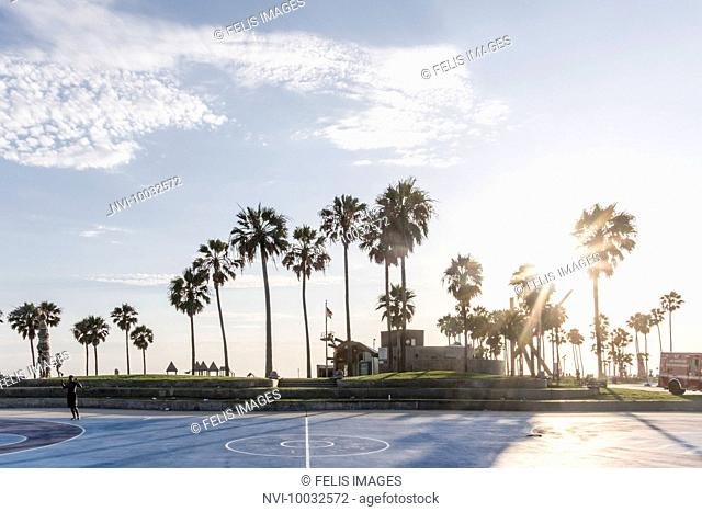Evening mood at Venice Beach, Los Angeles, California, USA