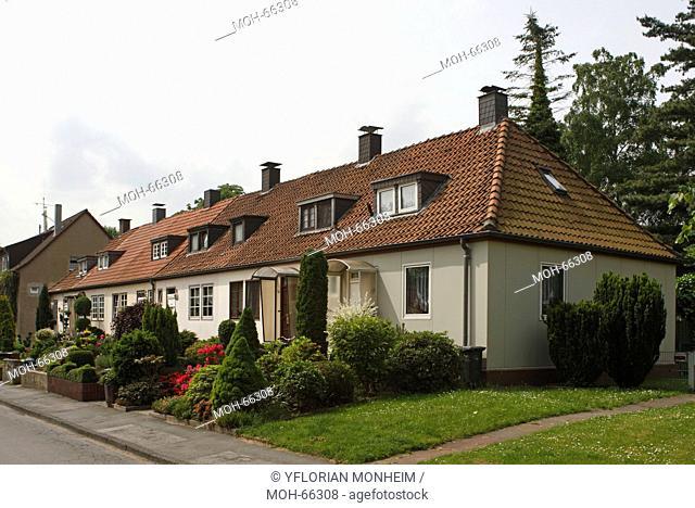 Dortmund-Kemminghausen, Häuserzeile aus Stahl