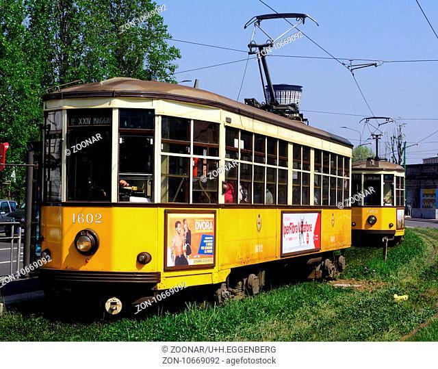 Historic Tramway,Milan,Italy