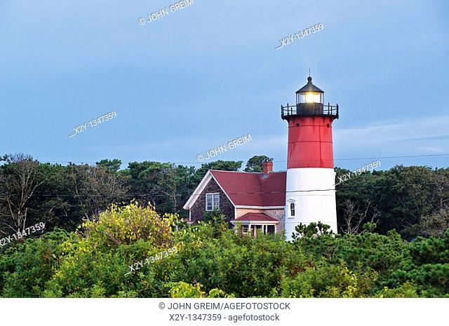 Nauset Light, Cape Cod National Seashore, Eastham, Cape Cod, MA