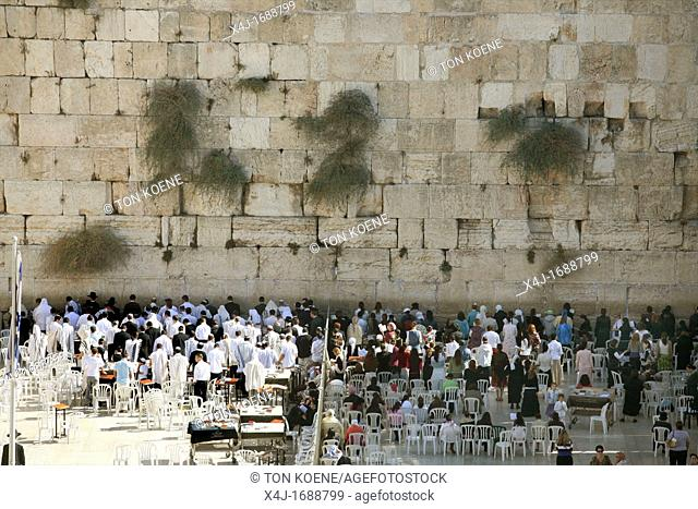 The Western wailing wall in Jerusalem