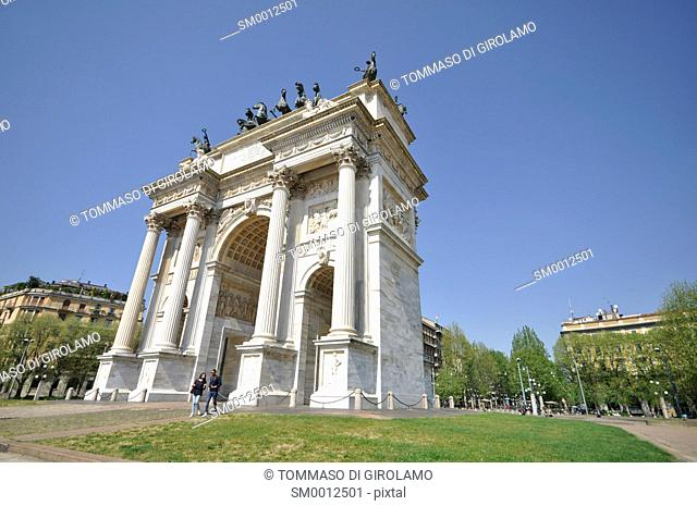 Italy. Milan, The Arch of Peace