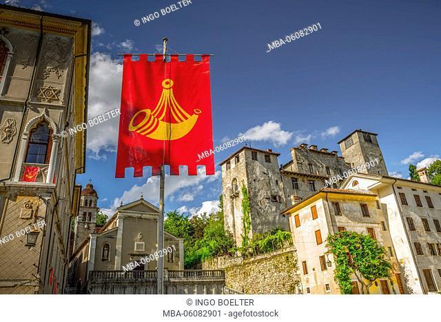 Italy, South Tirol, the Dolomites, Feltre, Piazza Maggiore, San Rocco di San Sebastiano