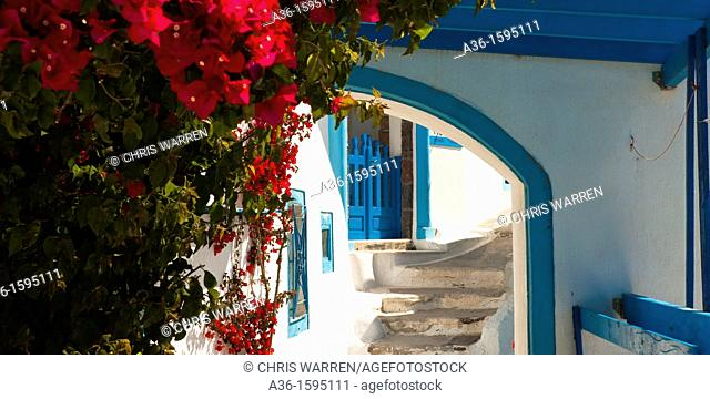 Typical architecture Firostefani Santorini Cyclades Islands Greece