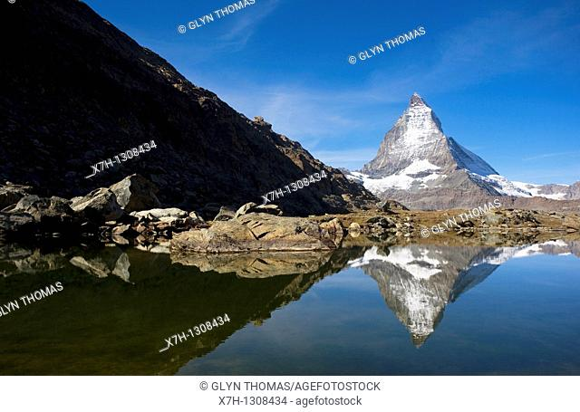 Matterhorn and the Riffelsee lake, Switzerland
