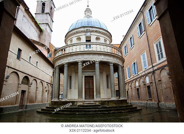 Tempietto del Bramante. San Pietro in Montorio. Rome, Italy