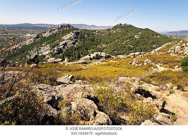 The Camorza hills in the Pedriza  Parque Regional de la Cuenca Alta del Manzanares  Sierra de Guadarrama  Manzanares el Real  Madrid  Spain