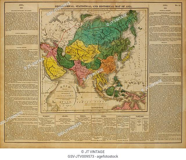 Geographical, Statistical and Historical Map of Asia, 1820