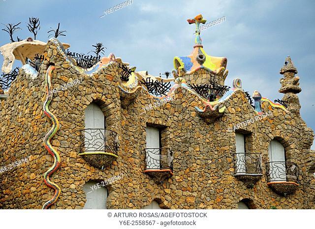 Gaudi style building in Rillo de Gallo (Guadalajara), Spain