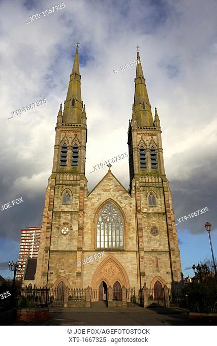 st peters roman catholic cathedral in the gaeltacht quarter of west Belfast Northern Ireland UK