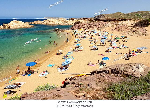 Unspoilt beach, Cala Pregonda bay, northern Menorca, Balearic Islands, Spain, Southern Europe, Europe