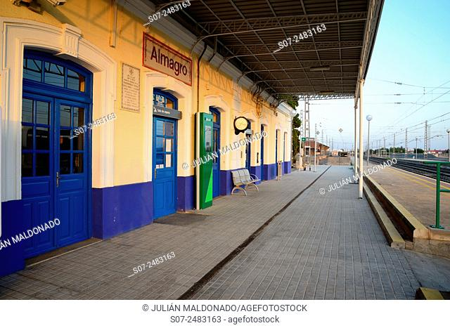 Train station in the town of Almagro, Spain