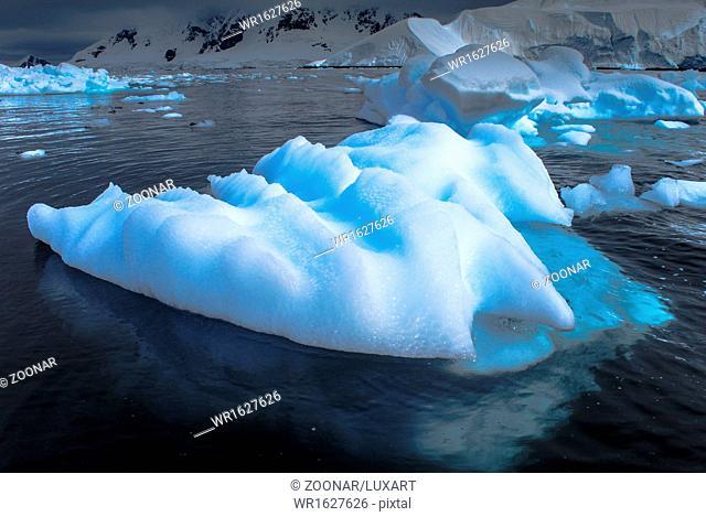 Ice flows, Paradise Bay, Antarctica