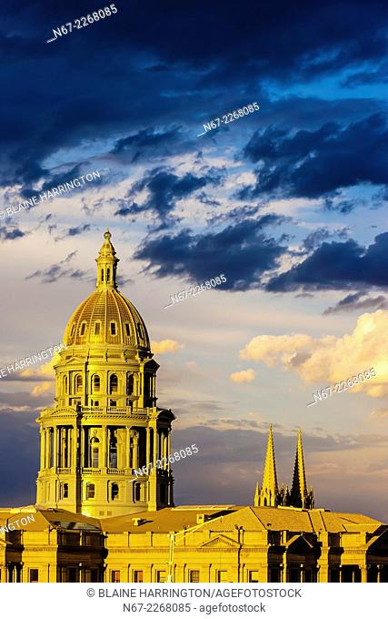 Colorado State Capitol Building, Downtown Denver, Colorado USA