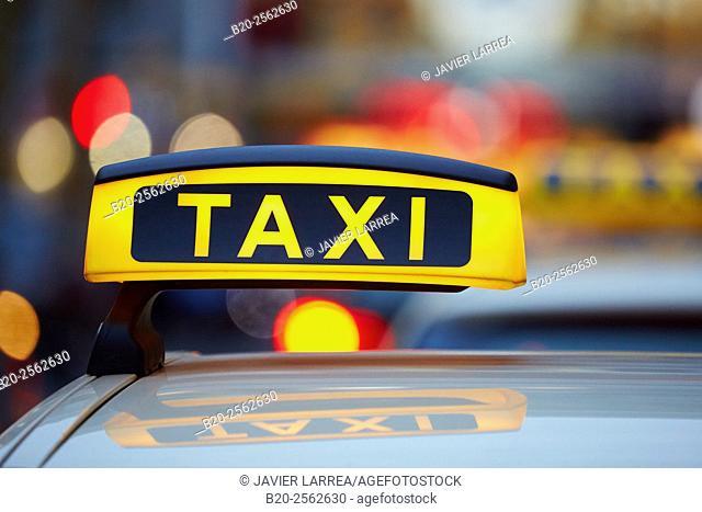 Charlottenburg, Taxi, Berlin, Germany