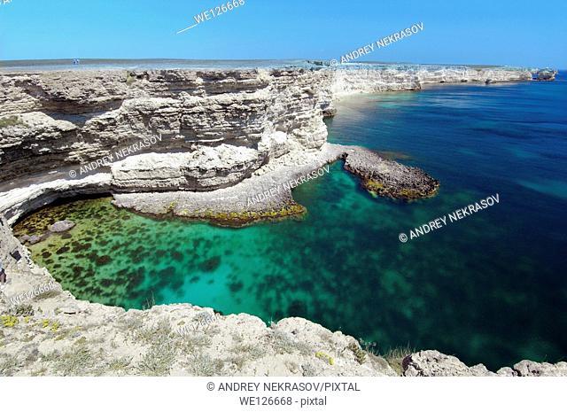 Coastline, peninsula Tarhankut, Tarhan Qut, Crimea, Ukraine, Eastern Europe