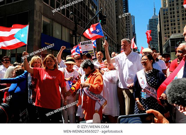 2016 National Puerto Rican Day Parade held in New York City Featuring: Bill de Blasio Where: New York City, New York, United States When: 12 Jun 2016 Credit:...