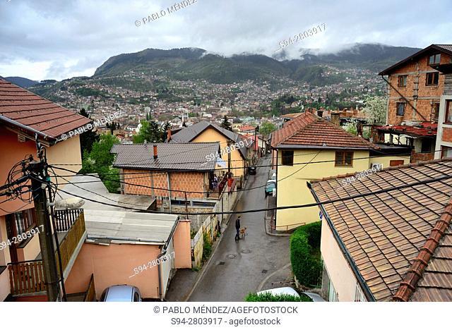 View of rooves of Sarajevo, Bosnia y Herzegovina