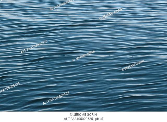 Rippled surface of water, full frame