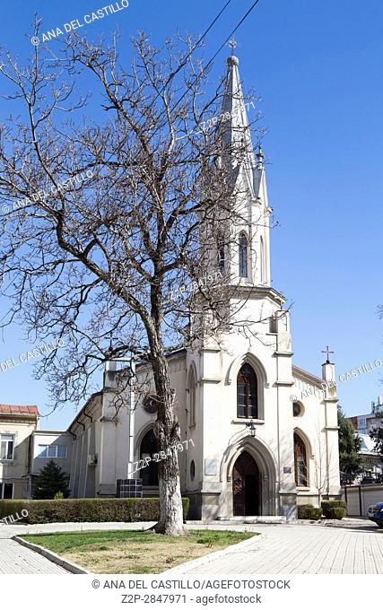 St Anton is a Catholic church in Craiova on March 17, 2017 Romania