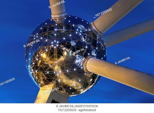 Atomium in Brussels, Belgium