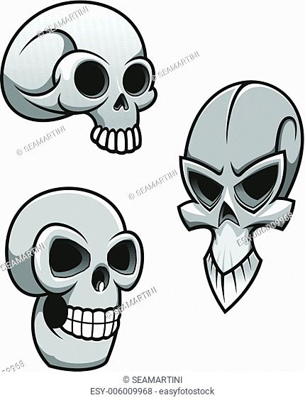 Set of skulls for tattoo or mascot design