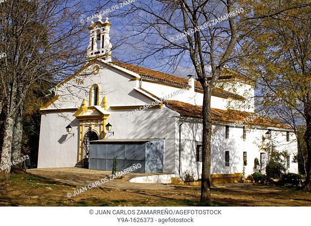 Arias Montano rock Church, Alajar, Sierra de Aracena and Picos de Aroche Natural Park, Huelva, Andalucia, Spain