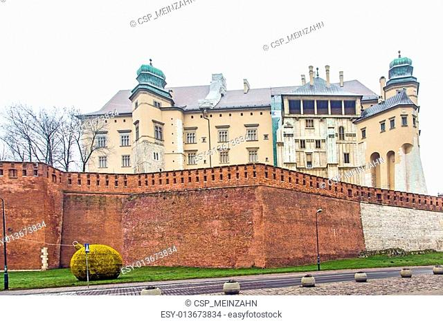 Wavel Castle in a city of Krakow, Poland