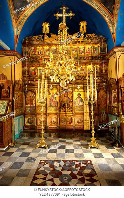 Interior of the Greek Orthodox Monastery of the Profitis Ilias, Hydra, Greek Saronic Islands