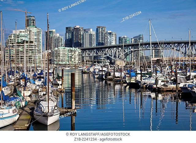 View of Granville Street Bridge in Vancouver