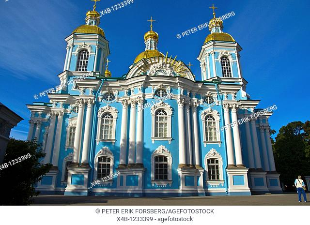 Naval Cathedral of Saint Nicholas St Petersburg Russia Europe